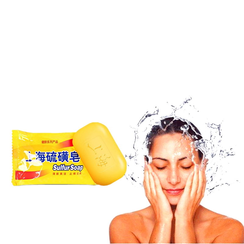 Magic Sulfur Soaps Fragrant Shiny Smooth Hair Shampoo Soap Anti Itching Dandruff Effectual Repair Hair
