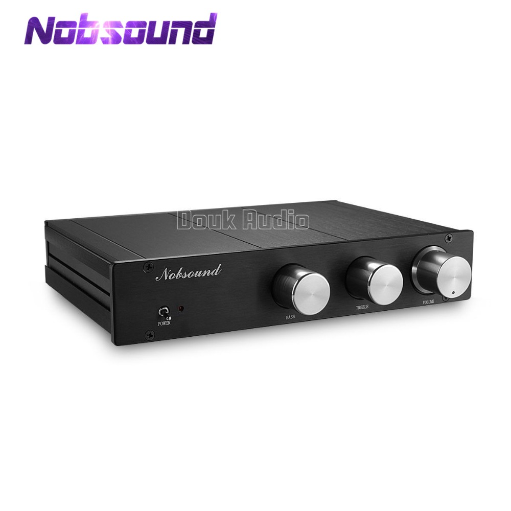 Nobsound Hi-Fi Linkwitz-Riley Electronic Crossover 2-Way Frequency Divider 2-Band Handle Pre-amplifier Preamp music hall latest linkwitz riley electronic crossover 2 way frequency divider 2 band handle preamp free shipping