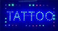 2017 Direct Selling Gráficos personalizados interior Ultra Bright correndo 10X19 polegadas tatuagem loja sinal de led-