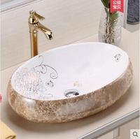 Ванная комната мрамор простой ретро Европейский умывальник Овальный книги по искусству умывальник бытовой на сцене