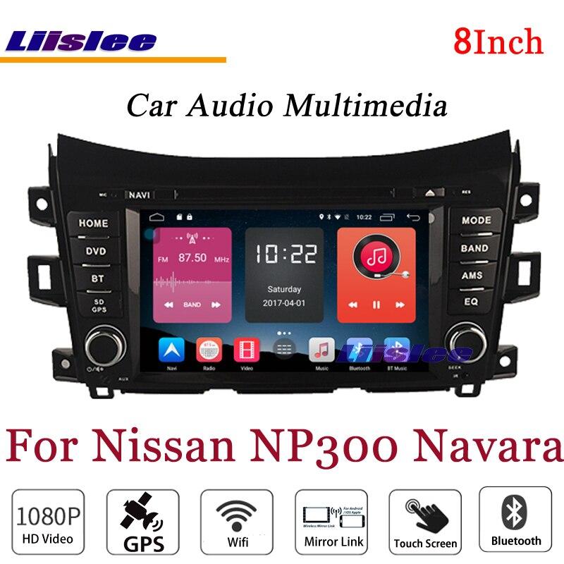 Liislee для Nissan NP300 Navara стерео Android Радио BT dvd-плеер gps навигационная карта 1080 P HD Экран Системы оригинальный NAV Дизайн