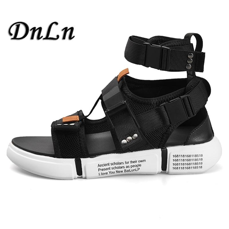 Brand Designer Man Beach Sandals 2019 Summer Gladiator Men's Outdoor Shoes Roman Men Casual Shoe Flip Flops 25D50