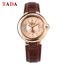 TADA Marca 3ATM Impermeable reloj de Señoras de Lujo de Oro Relojes de pulsera de Cuarzo de Las Mujeres Famosas Rhinestone Relojes relojes Mujer Montre Femme