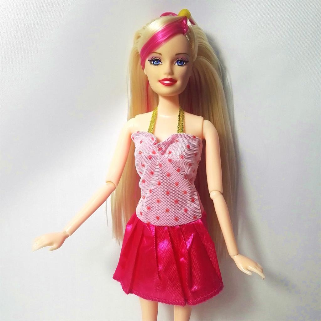 Newest Doll Dress Beautiful Handmade Party ClothesTop Fashion Dress For Barbie Noble Doll Best Child GirlsGift 896P