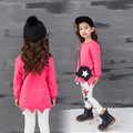 2017 Korean Children Girls In Autumn And Winter New Lovely Hair Ball Plus Velvet Long Sleeved T-shirt Bottoming Shirt