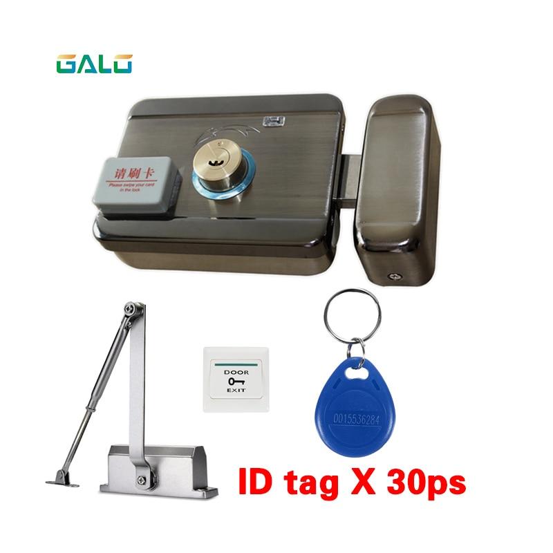30 меток двери и ворота система контроля доступа электронный интегрированный RFID считыватель ID дверной обод замок с 25 50 кг Дверной доводчик