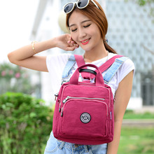 Girls Multifunction Water Resistant Nylon Top Handle Handbag Crossbody Satchel Purse bag