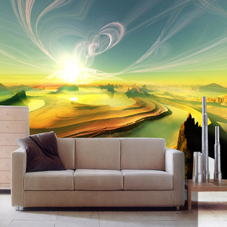 Custom 3d wall murals wallpaper tv backdrop sofa three - Fotomurales adhesivos pared ...
