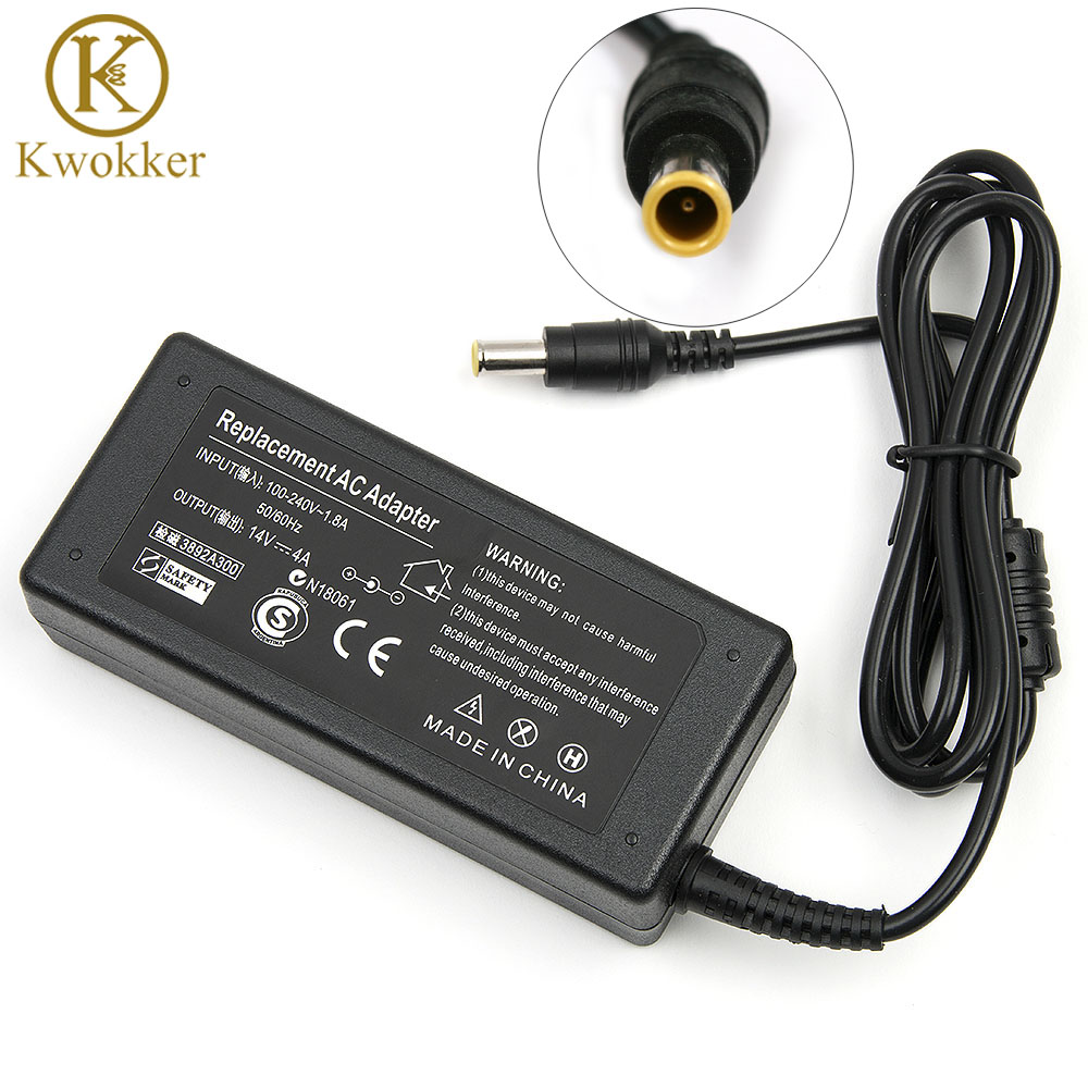 14V 4A 56W AC Power Laptop Adapter Untuk sumsang LCD SyncMaster Monitor S24A350H B2770 P2770H P2370H Notebook Power Supply