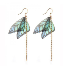 Long Butterfly Wings Women's Drop Earrings