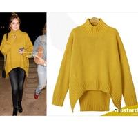 2017 Autumn And Winter Women S Large Size Loose Knitting Sweater Female Retro Plus Size Bat