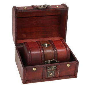 Case Container Jewelry Organizer Treasure Chest Wooden Small Vintage Storage-Box 2pcs