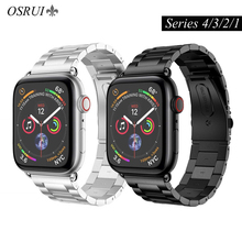 OSRUI Stainless Steel watch Band for apple watch 4 44mm 40mm strap correa 42mm 38mm iwatch 3 2 1 metal wristband bracelet belt osrui stainless steel for correa apple watch strap 4 44mm 40mm iwatch 3 wrist link bracelet for apple watch band 42mm 38mm belt