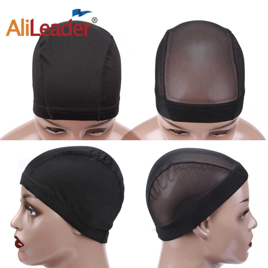 Elastic Dome Wig Caps For Women For Making Wigs 10 Pcs Lot Black Mesh  Spandex 50244cd237