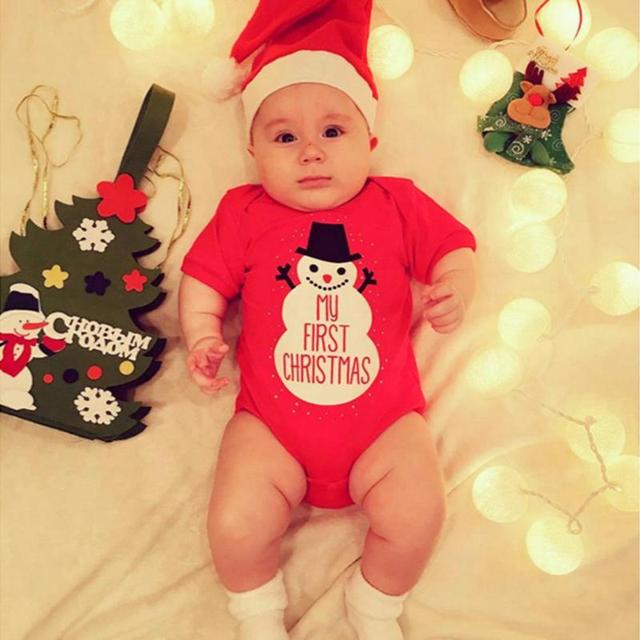 5771692f2d7e Christmas Newborn Baby Girls Boys Cute Romper Loose Letters Print ...