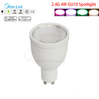 Mi Light Wifi Bulb 4w GU10 Led RGBW Spotlight Light Bulb Change Color Brightness With Led