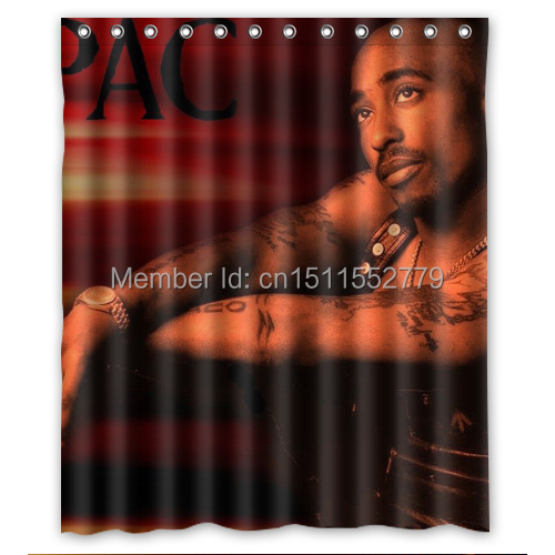 Attractive 2Pac Tupac Shakur Shower Curtain High Workmanship