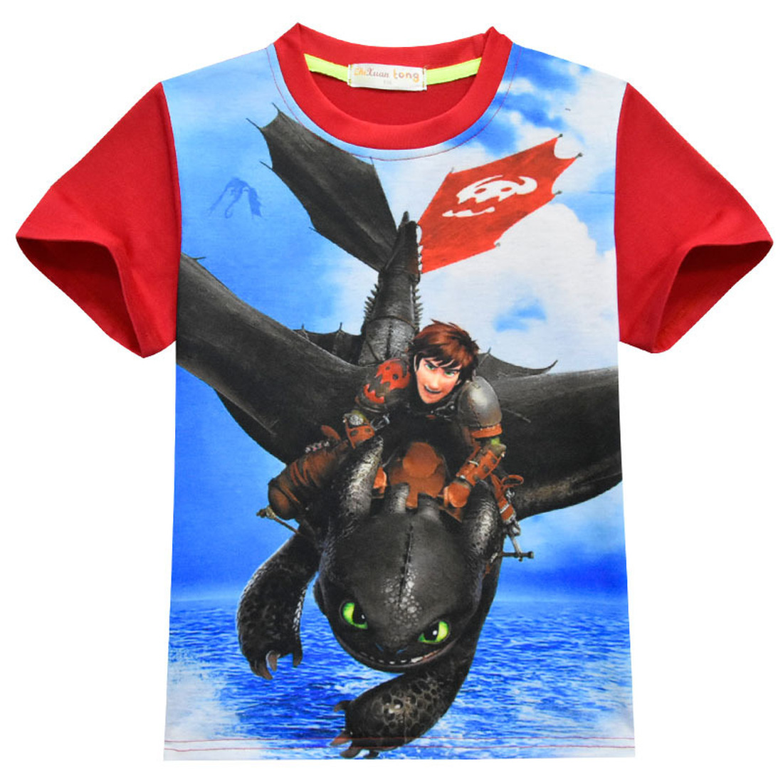 New How to Train Your Dragon 3 Kids T Shirt Night Fury Toothless Cosplay Costume 3D Printed Arrival Baby Boys Casual Tee Top