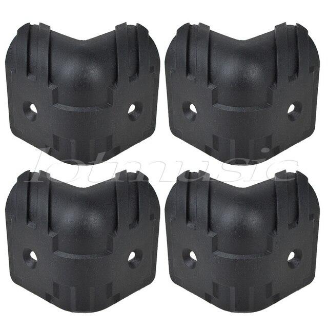 4pcs black hard plastic guitar amp cabinets amplifier speaker cabinet corner protectors l in. Black Bedroom Furniture Sets. Home Design Ideas