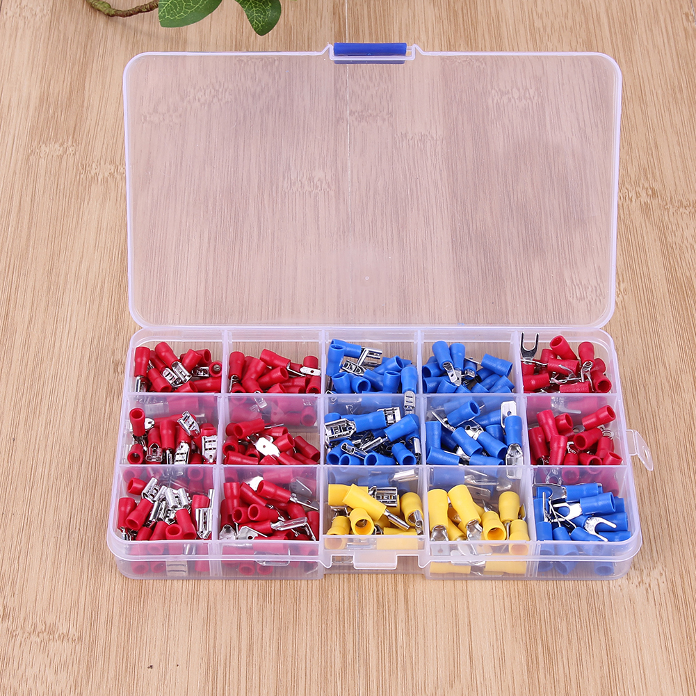 280 pcs Crimp Spade Terminal Assorted Crimp Spade Insulated Electrical Wire Cable Connector Kit Set Male Female tool 1000pcs non insulated spade terminal snb3 5 6