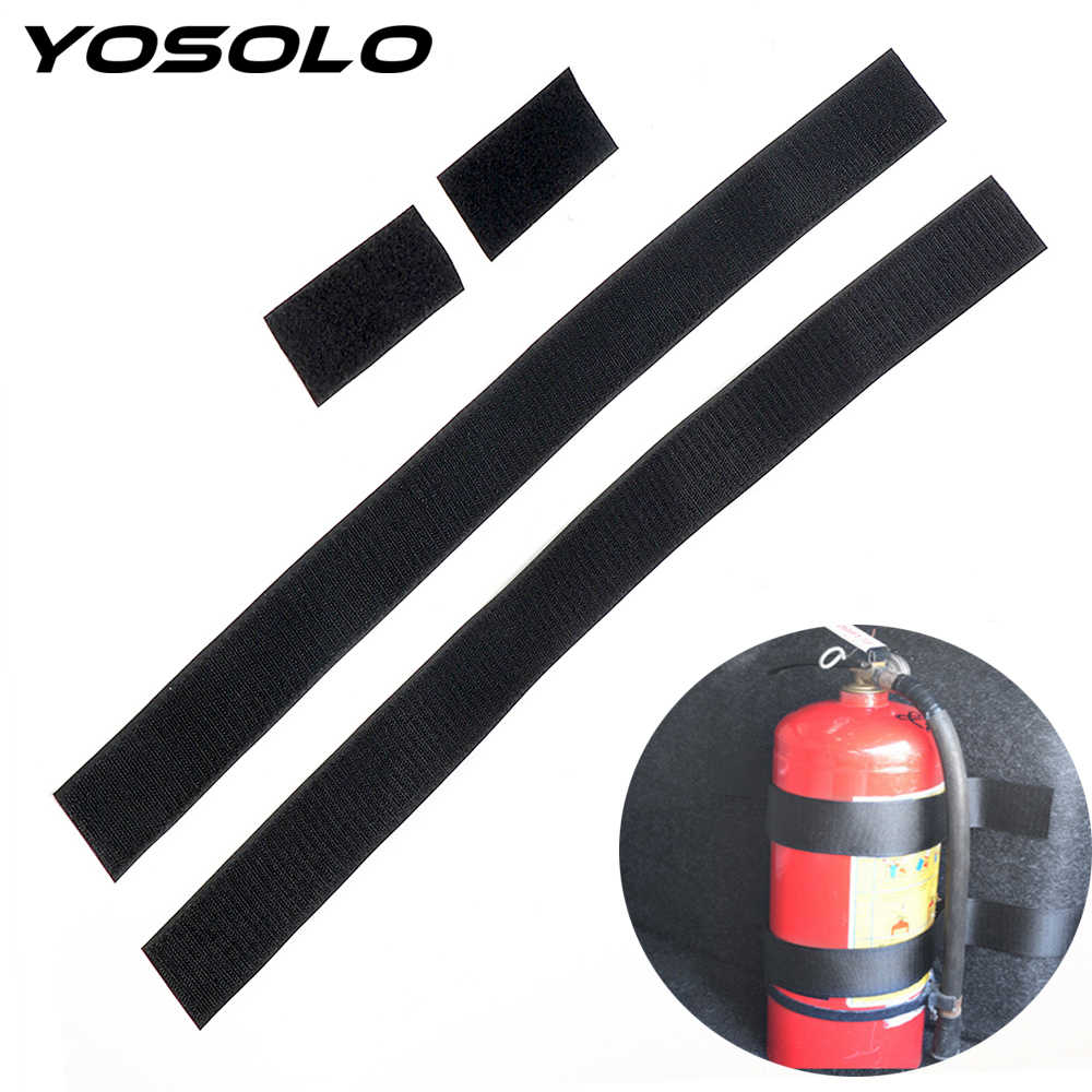 YOSOLO Car Trunk Organizer 60 x 5cm Fire Extinguisher Mount Straps Fixed Sundry Tape Car Organizers Stowing Tidying Car-styling