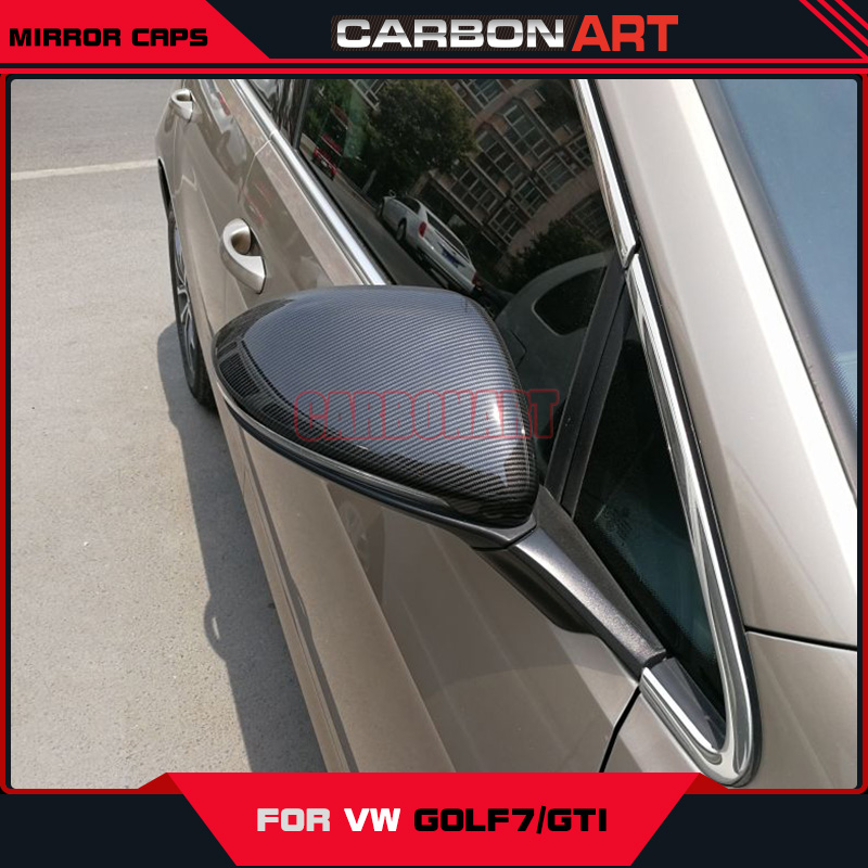 For golf mk7 GTI volkswagon carbon side mirror caps covers auto car styling accessories 2014 2015 2016 2014 2015 2016 vw golf 7 replacement carbon fiber door side wing mirror covers for volkswagen golf mk7 gti golf7 r car tuning