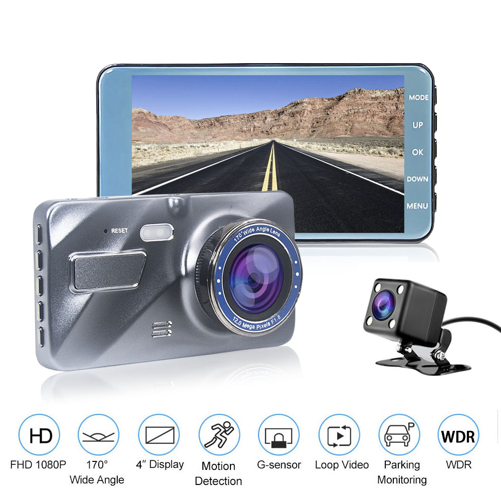 HGDO Car DVR Car-Camera-Recorder Dash-Cam Dual-Lens Night-Vision 1080P HD