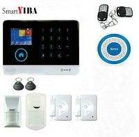 SmartYIBA Free Shipping Newest Wireless Home Security WIFI GSM SIM Card FR RU ES PL Switchable