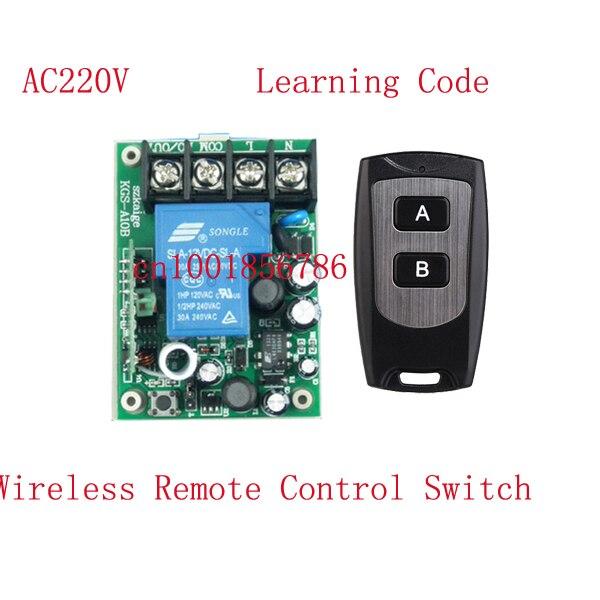 AC85V-280V 3000W Wide Voltage input Full RF Wireless Remote Control Switch Receiver Transmitter Big wiring terminal dc24v 8ch rf wireless remote control switch 8 receiver