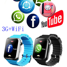 цена на 3G Smart Watch SIM Camera Smartwatch  Wifi For Android Smartphone Touch Screen MTK6572