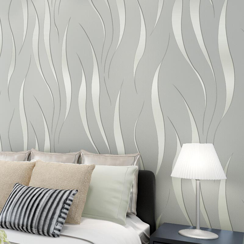 modern vertical stripe wallpaper non woven 3d wall murals wallpapers textured living room beige. Black Bedroom Furniture Sets. Home Design Ideas
