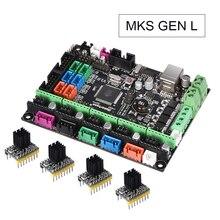 MKS Gen L V1.0 интегрированная управляющая печатная плата RepRap RAMPS 1,4 поддержка A4988/DRV8825/TMC2208/TMC2130 драйвер для 3D-принтеры запчасти