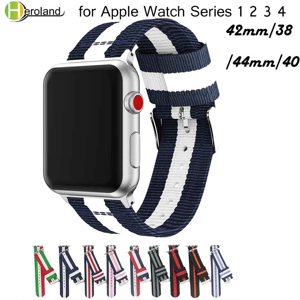 Fashion Strap Band For Apple Watch Series 5 4 3 2 1 Nylon Strap For Iwatch Classic Styles Colors Pattern With Adapters 38 42mm