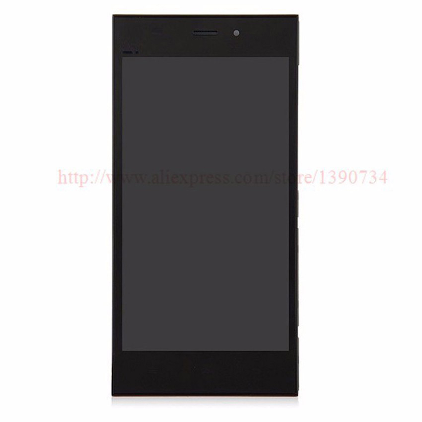 100 GOOD Working LCD Display Touch Screen Digitizer Assembly With Frame Bezel For Xiaomi m3 mi3