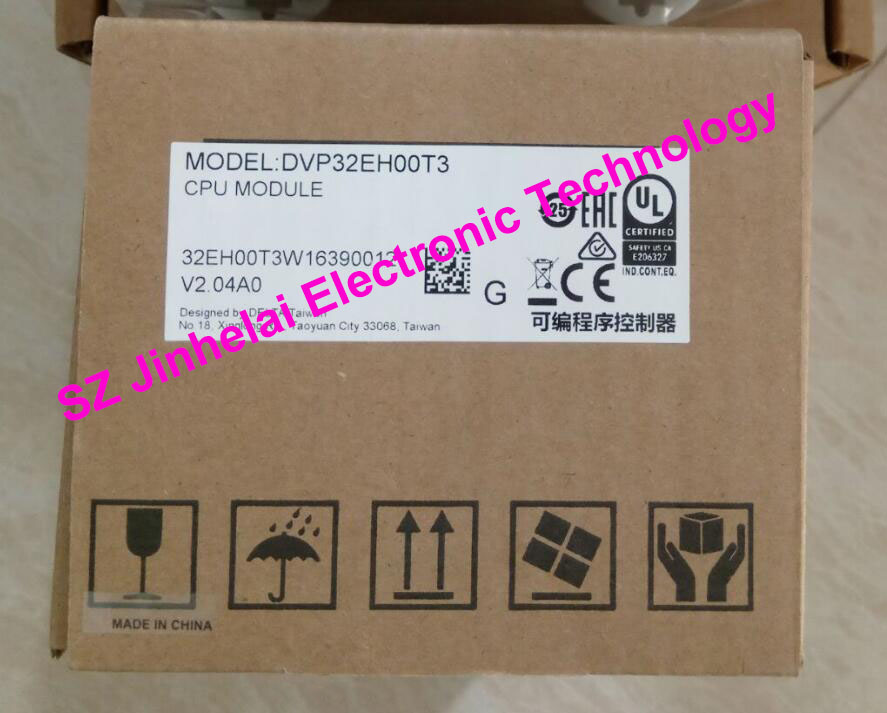 100% New and original DVP32EH00T3 Delta PLC 32points host,16DI/16DO(NPN transistor) 1000pcs s9014c to 92 s9014 npn transistor