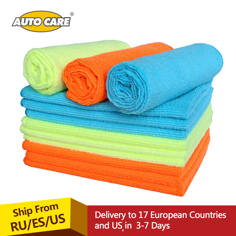 12Pcs Microfiber Car Wash Towel Car Cleaning Cloth Car Waxing Polishing Drying Detailing Car Care Kitchen Housework Towel mjjc 40 50cm super absorbent car wash car care cloth detailing towels 840gsm microfiber towel car cleaning drying cloth