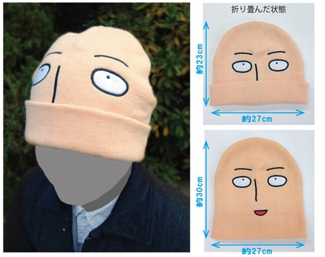 ec568ddfc23 New arrival One punch man Saitama shaven head Style Winter Warm Wool Unisex  Limited Cap Hat