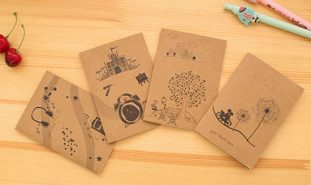 Mini Good Time Notebook Notepad Daily Memo Note Craft Paper Vintage