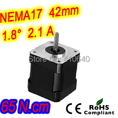 ФОТО 12 pcs per lot  step motor 17HS24-2104S  L 60 mm  Nema 17 with 1.8 deg  2.1 A  65 N.cm and  bipolar 4 lead wire HIGH TORQUE TYPE