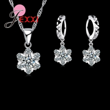 Jemmin 2017 925 Sterling Silver Austrian Crystal Set For Women EXtraordinary Bling Necklace Earrings Jewelry Sets Accessory