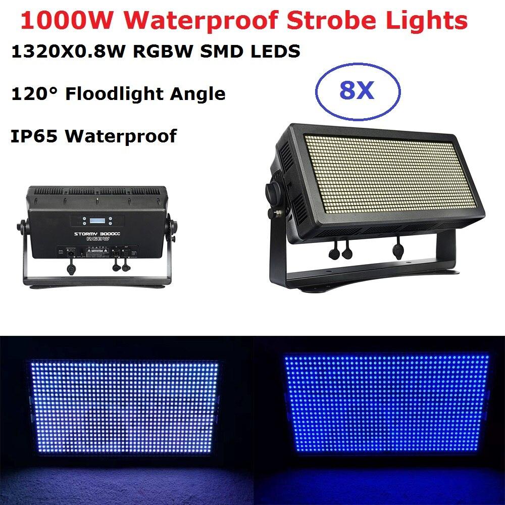 IP65 Waterprooof светодиодный стробоскопы высокой Мощность 1000 W RGBW 4IN1 светодиодный вспышки света DMX Прожекторы сценического стробоскоп свет на Рож
