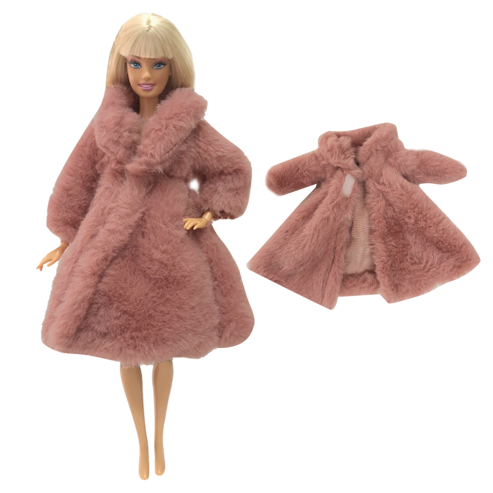 NK Doll Coat High Quality Clothes Fashion Dresse Handmade Grows Outfit Flannel Coat For Barbie Doll Accessories Toy 256C