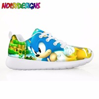 Children's Shoes Sneakers for Children Boys Girls Cute Sonic the Hedgehog sega Kids Casual Flats Comfortable Lace up Shoe