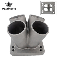 PQY Cast Stainless Steel 4 1 Turbo header manifold Merge collector T3 T4 with T3 Flange PQY THM01 4