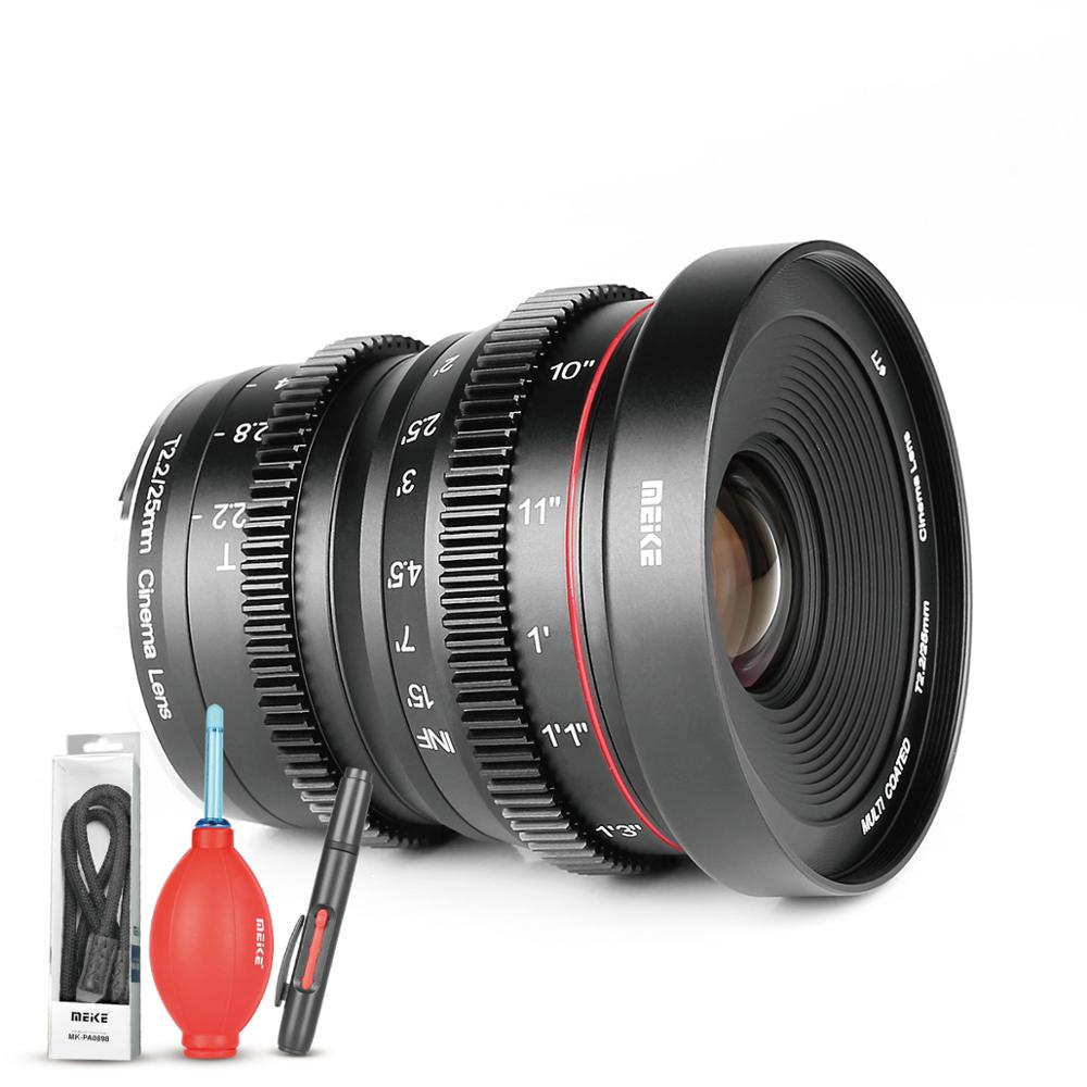 Meike MK 25mm T2 2 Manual Focus Aspherical Portrait Cine Lens for Micro Four Thirds MFT