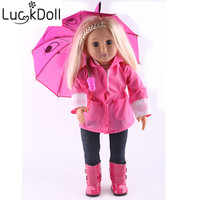 Luckdoll Waterproof Clothing Six Piece Doll Costume Fits 18 Inch American Doll dollaccessories