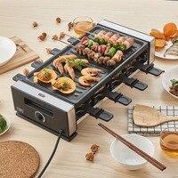 1200W 220V Non sticky Family Barbecue Electric Raclette Grill Smokeless Grill Raclette Grill Electric Griddle