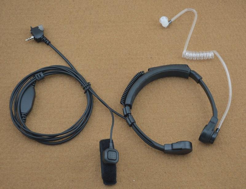 Microphone de gorge à usage moyen avec doigt PTT Air Tube écouteur pour Motorola MTP850 MTH850 MTH600 MTS850 Tetra