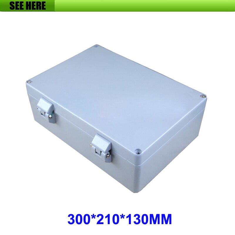 300*210*130mm électrique boîte électrique boîte de boîtier en aluminium pour l'électronique instrument cas sortie cas