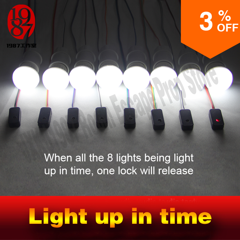 Takagism game prop room escape prop Light up in time light up all the light in a preset  ...